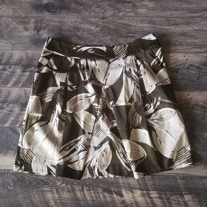 Kenneth Cole New York Leaf Print  Skirt